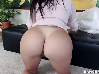 Brunette sexy with huge breasts had her wet hole slam fucked many times but...
