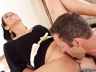 Jack Lawrence is horny as hell and cant wait any longer to slam Chica Isis...