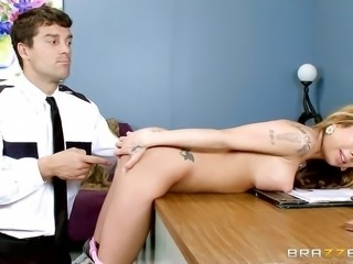 """""""Sexy thief Kat Dior gets her hot ass punished"""""""