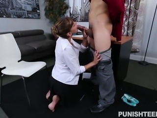 Dakota was busy doing her regular office work, when her angry boss called her...