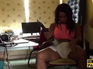 Black british sub slut dominated and fucked