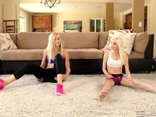 Lesbian sex after fitness lesson