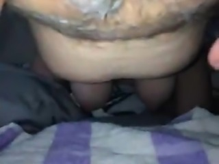 Rubbing the wife's clit
