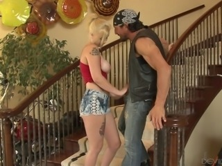 Tommy hired this blonde as babysitter and he instantly fell in love with her...