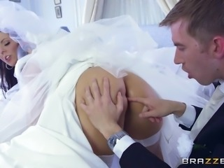 This bride has it all, pretty face, big ass and tits, and she loves cocks....