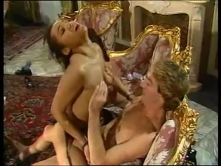 Mature lady and her black maid doing a guy - vintage