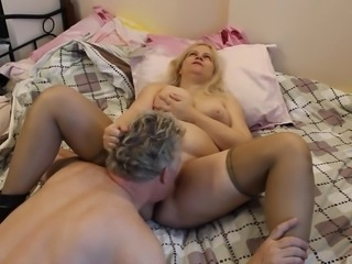 Big Tit Russian MILF being naughty pussy sucked by British Lover, Stuart...