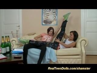 18-years-old, Lesbian-anal, Lesbian-anal-strapon, Lesbian-strapon,...