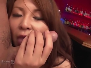 Airi Ai's Tig Ol' Bitties Bounce in a Bar (Uncensored JAV)