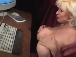 Big Titties Hard at Work