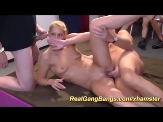 wild german gangbang swinger party orgy