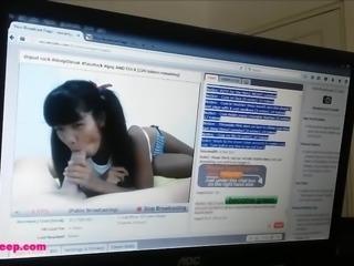 Tiny Asian Thai Teen Heather Deep Get Creampie after Webcam