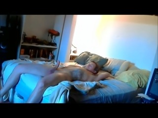 Cute dominant BBW makes younger guy blow too early