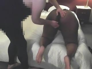 Dutch Ebony BBW : Ass & Pussy Spanked by Me - Full Version