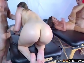 Nikki Benz and Dani Daniels get the special spa treatment