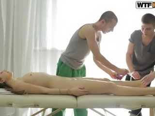 It was not an easy task to give massage to his girlfriend, so my friend asked...