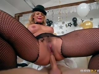 Three hotties side by side getting fucked like crazy. Some like it in the...
