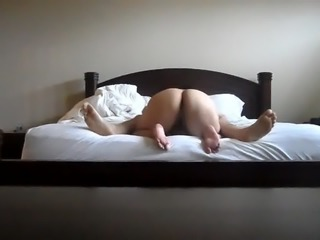 Asian Wife Bending Over Sucking Cock