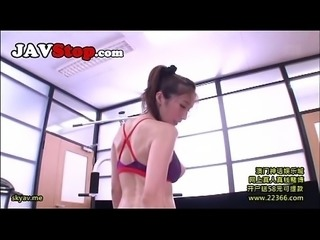 Busty Japanese Julia Fucked in Gym