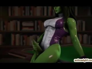 Shemales 3D hentai hot riding bigcock