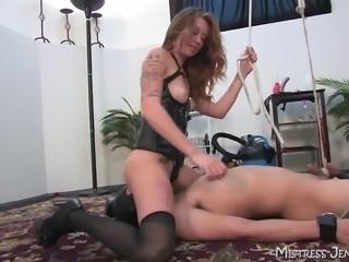Nasty Femdom Mistress Emily no mercy torment of male slave