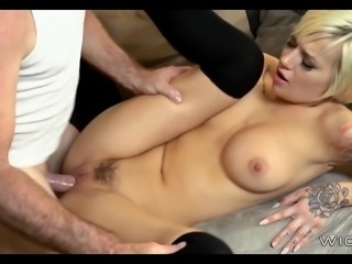 Blonde Babe Sucks off her Step Father