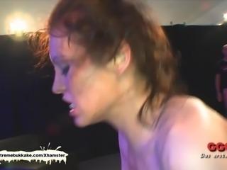 Petite Sarah Schluckt fucked hard - Extreme Bukkake