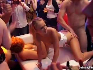 Big dick dudes screwing busty sluts at a hardcore sex party