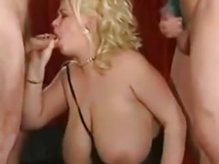 Great Cumshots on Big Tits 37