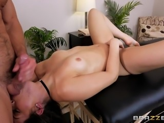 follow up a massage with a deep throat blowjob
