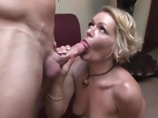 Blonde cougar like basketball
