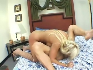 Buxom and bootyful blondie Lady Victoria gets pierced cunt nailed