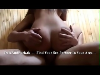 Sex with my horny stepsis in a sauna