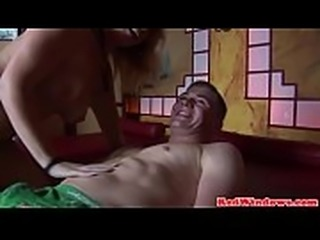 European slut doggystyled and jizzed in mouth