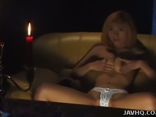 Spiritualistic medium Juri Morikawa talks with ghosts while masturbating
