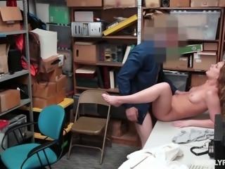 Guilty for stealing goods slut Daisy Stone gets fucked by dirty pervert