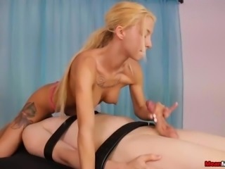 Blonde Teen Offers Her Client A Rough Happy Ending