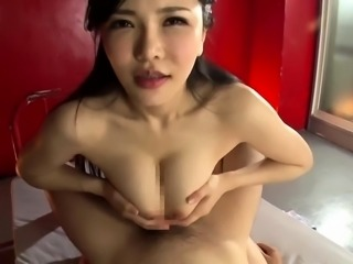 Big breasted Asian milf gets her cunt stuffed with hard meat