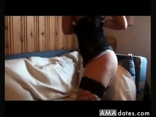 Amateur German Brunette Blowjob and Anal