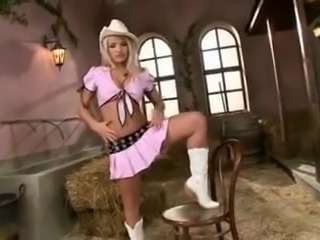 Trisha Annabelle getting naked in barn