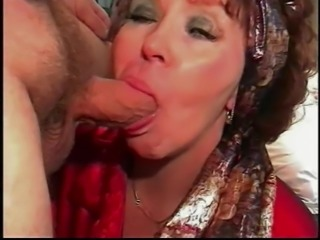 cougar wife takes a load on her tongue