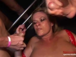Multiple Cumshots Orgy - Marina Part 2