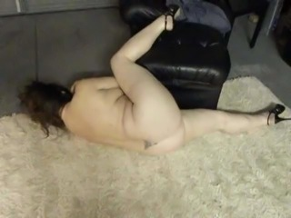 My MILF Wife Plays Naked Darts and gets Creampied in Garage