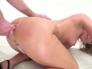 Hot blonde gets anal sex