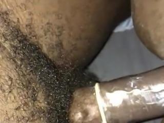 Hitting black chick doggy