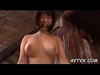 Cute japanese chick in nylons thrills with wild oral sex