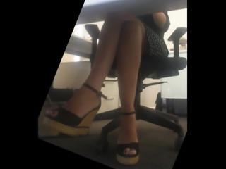 Candid legs undertable Pt.2