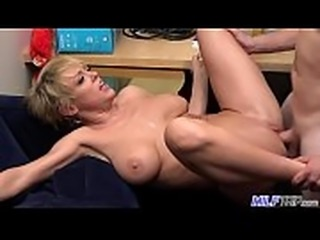 MILF Trip - Super horny blonde big-boobed MILF can&#039_t get enough cock -...
