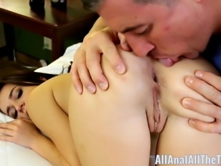 Cute Teen Kharlie Stone Gets Ass Spread and Licked