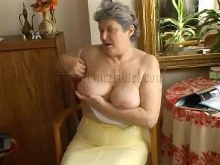 granny undresses and masturbates for us